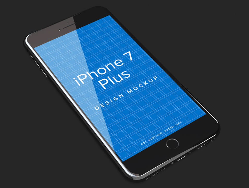 iPhone 7 Jet Black & 7 Plus PSD Mockup