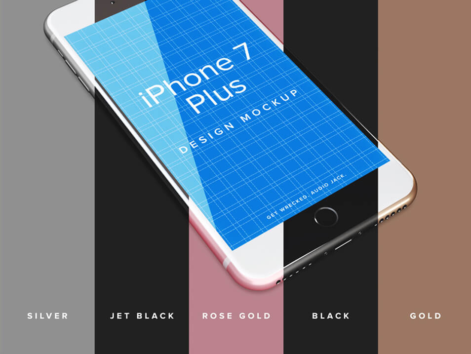 iPhone 7 Plus Design Mockup Template