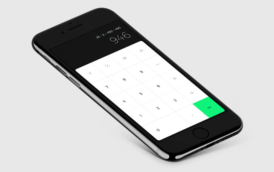 iPhone 7 iOs Calc Mockup Template