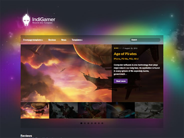indigamer Responsive Gaming WordPress Theme