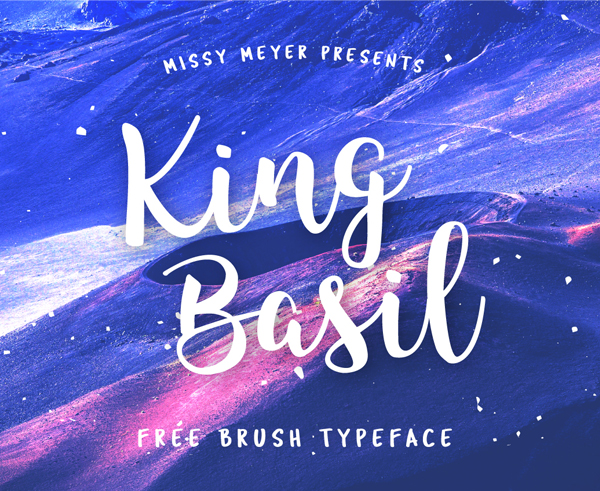 king basil Free Font 2017 for Graphic Designers