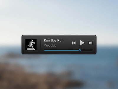 like music Video Player UI PSD