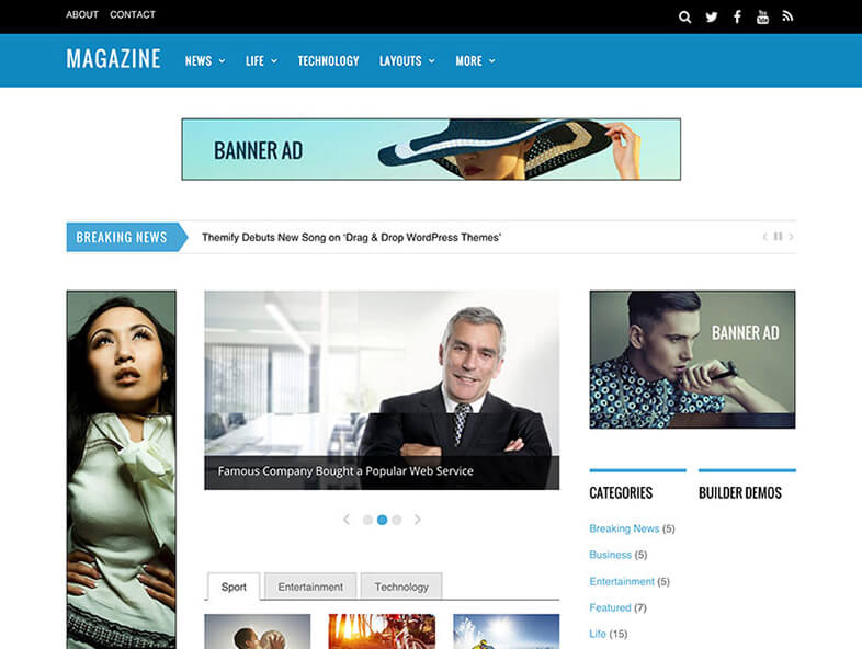 magazine WordPress Theme 2017