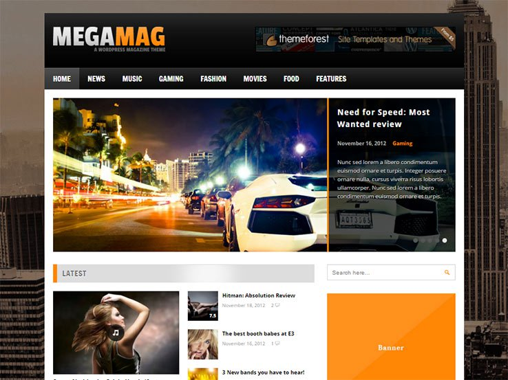 megamag Best Responsive Gaming WordPress Theme