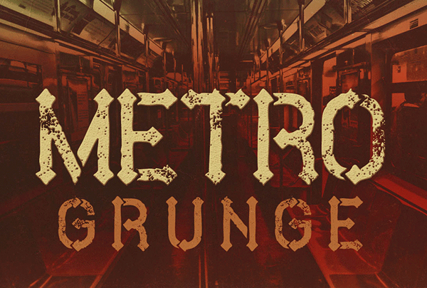 metro grunge Best Free Font 2017 for Graphic Designers