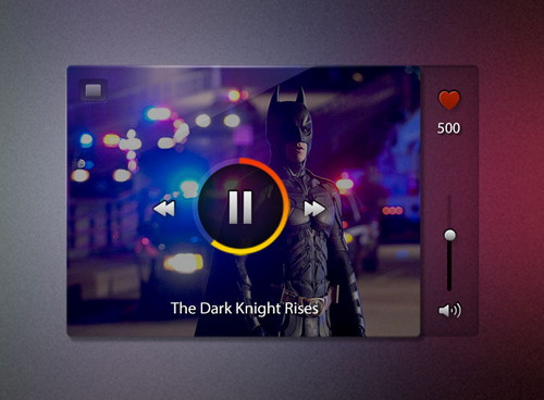 mini video player Video Player UI PSD Template