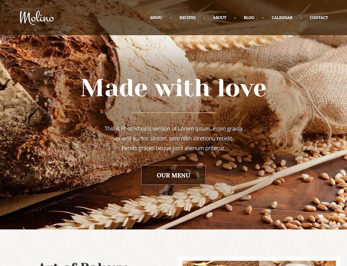 molino wordpress theme