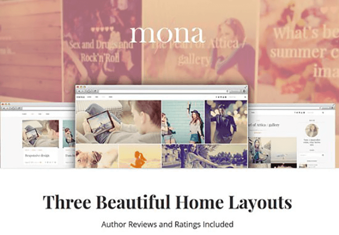 mona Theme for Product Review Website