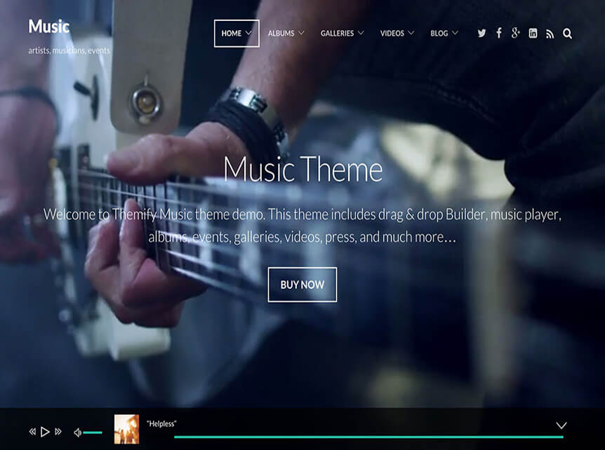 music Best Music WordPress Theme for Musicians & Bands