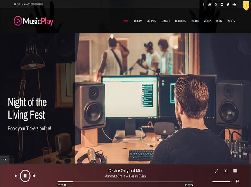 musicplay Best Music WordPress Theme for Musicians & Bands