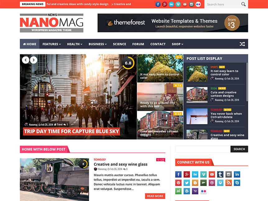 nanomag Theme for Product Review Website