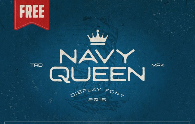 navy green Best Free Font