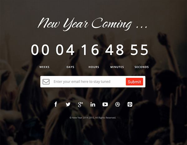 new year Construction HTML Website Template