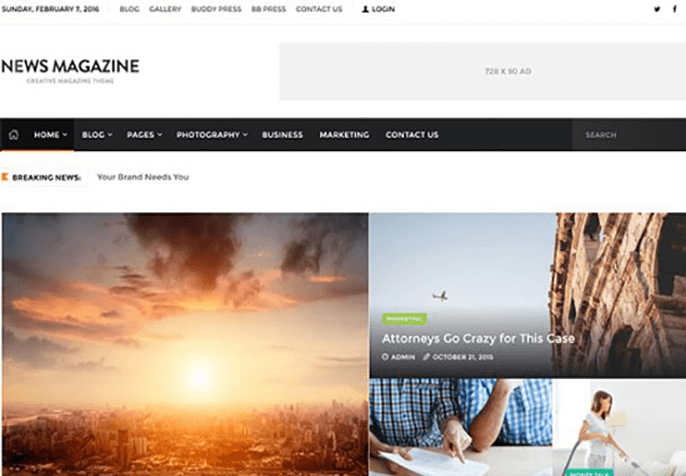 news magazine Theme for Product Review Website