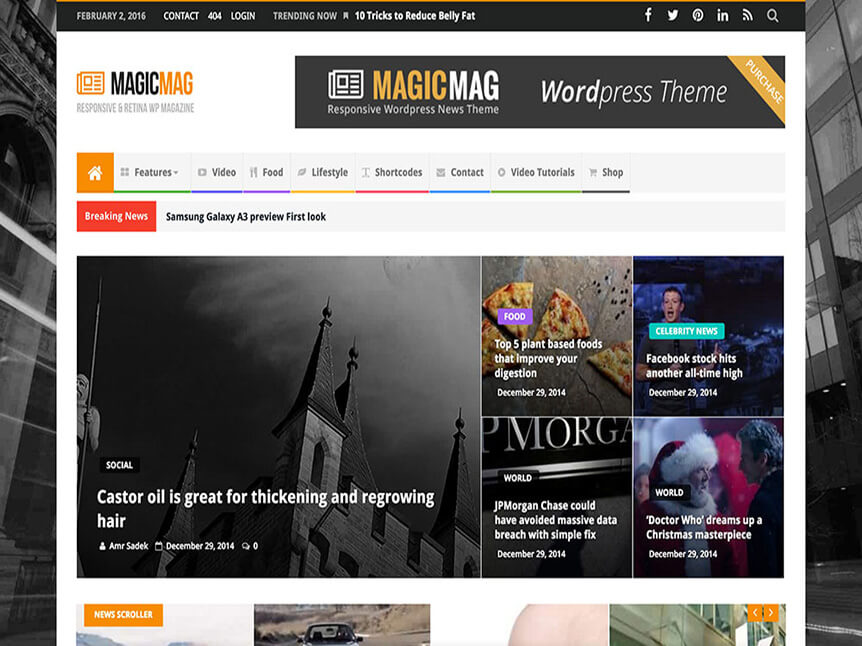 news magic Theme for Product Review Website