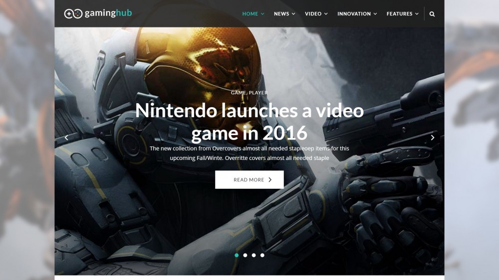 newshub Best Responsive Gaming WordPress Theme