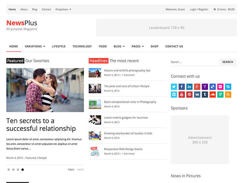 newsplus Magazine WordPress