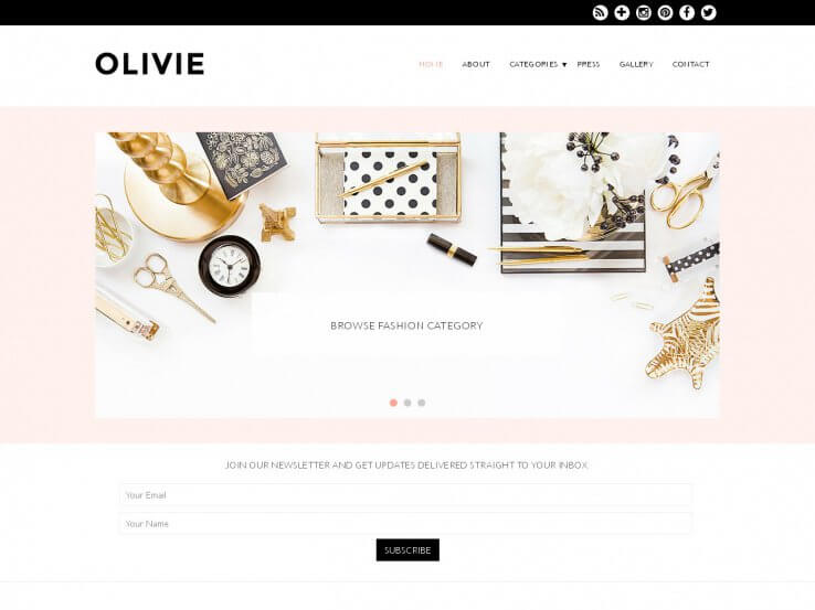olivie Coffee Shop WordPress Theme