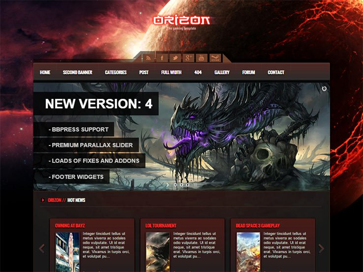orizon Gaming WordPress