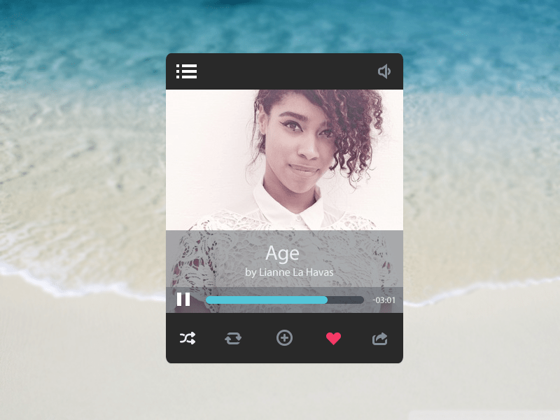 psd MP3 Video Player UI PSD Template