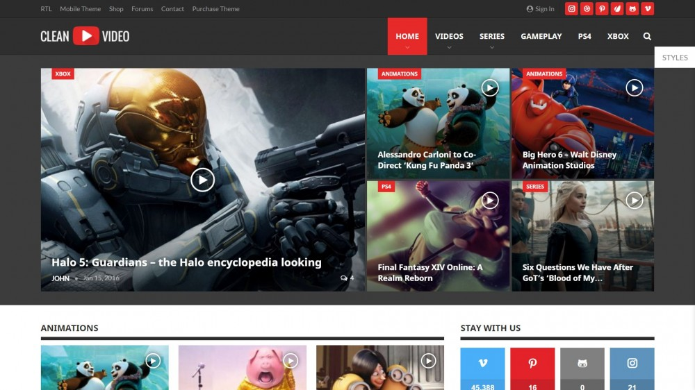 publisher Gaming WordPress