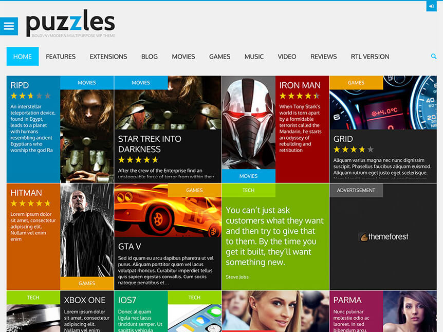 puzzles Theme for Product Review
