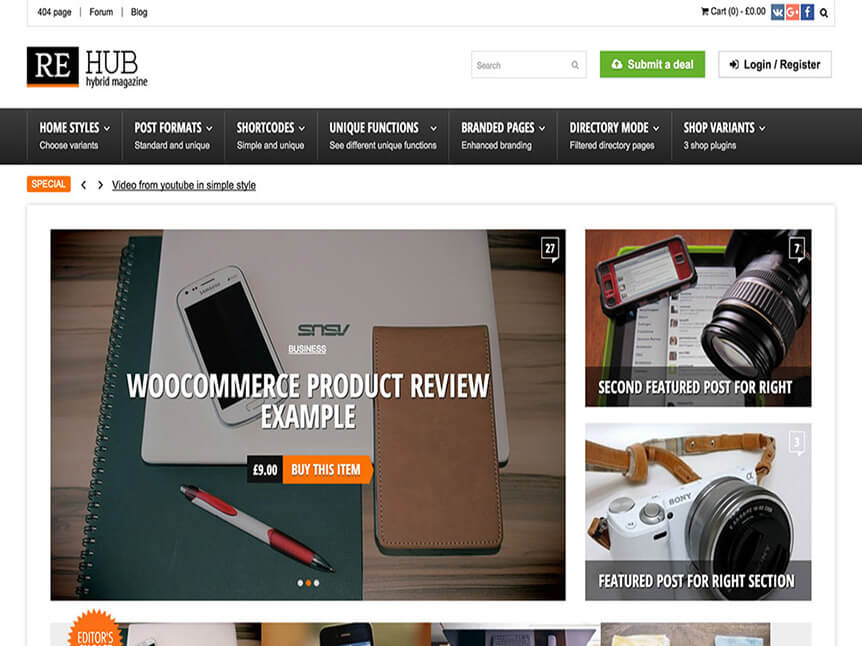 rehub Theme for Product Review