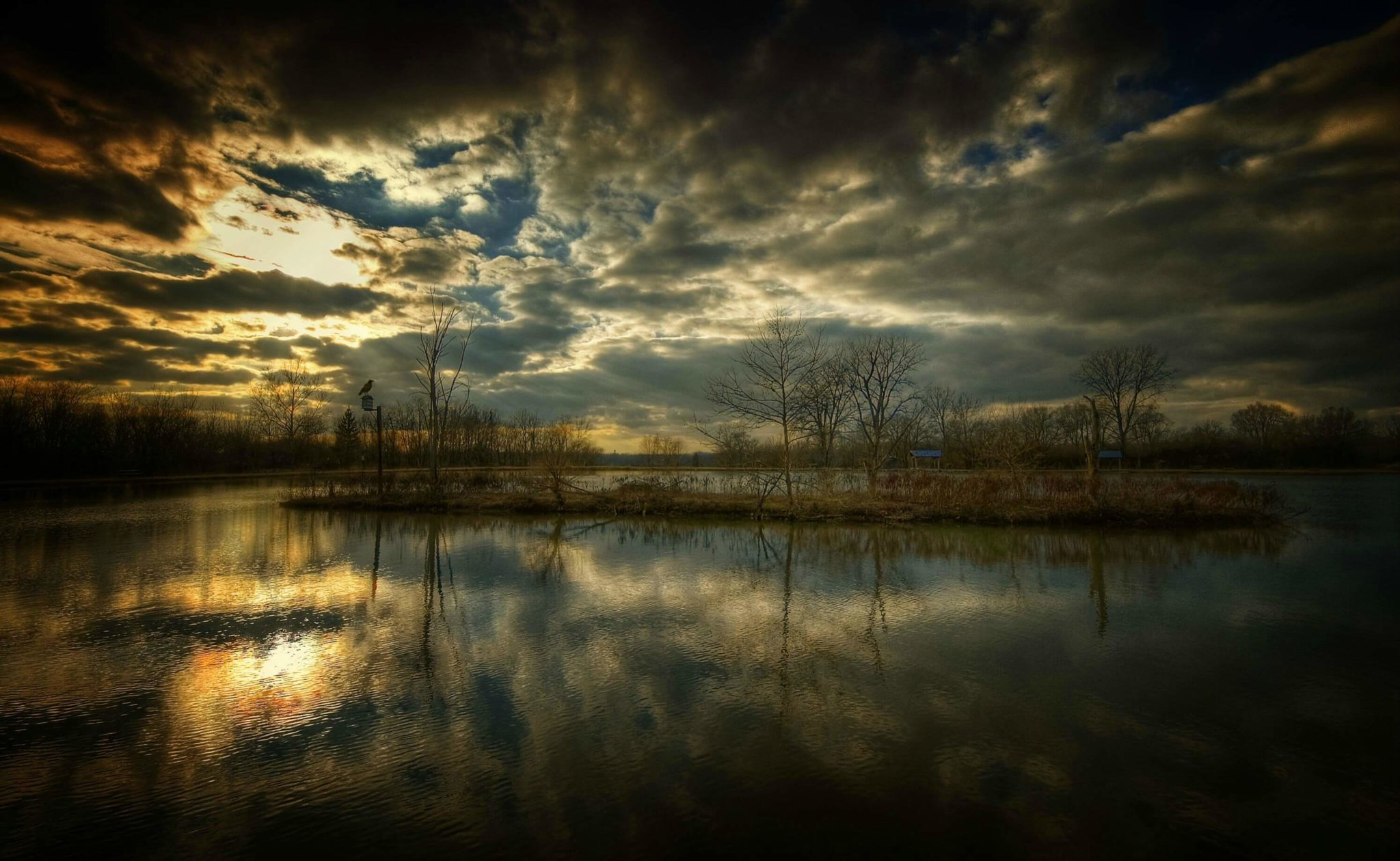 river sun set Wallpaper & HD