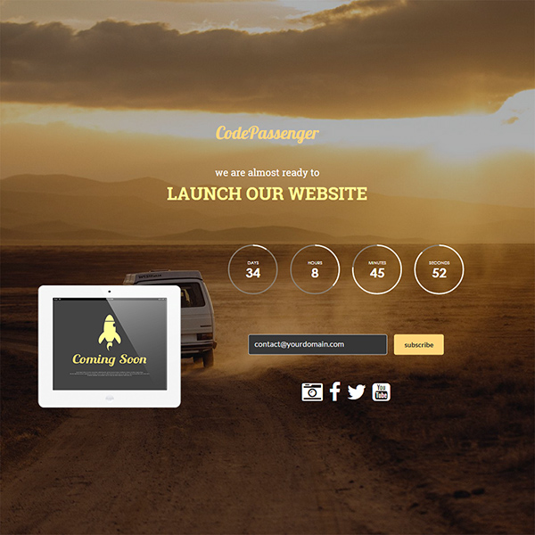 sunrise Construction HTML Website Template
