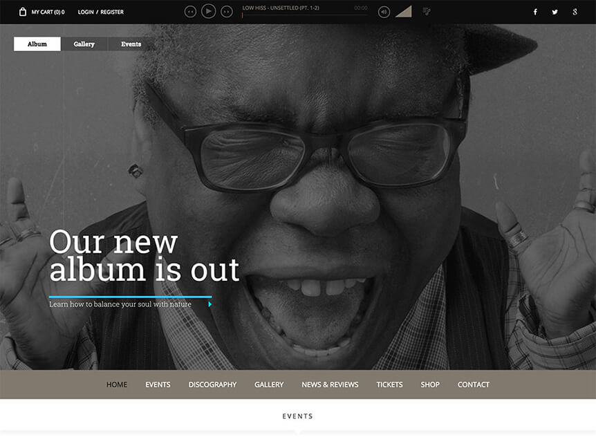 superstar WordPress Theme for Musicians