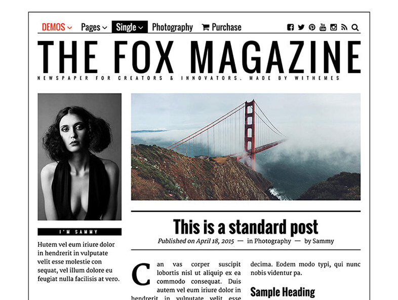 the fox Responsive Magazine