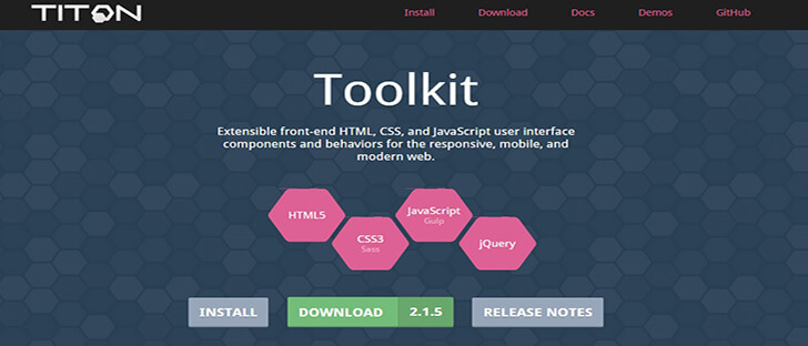 titon HTML5 and CSS3 Framework