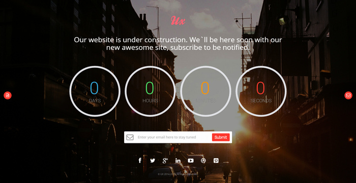 ux Construction HTML Website Template