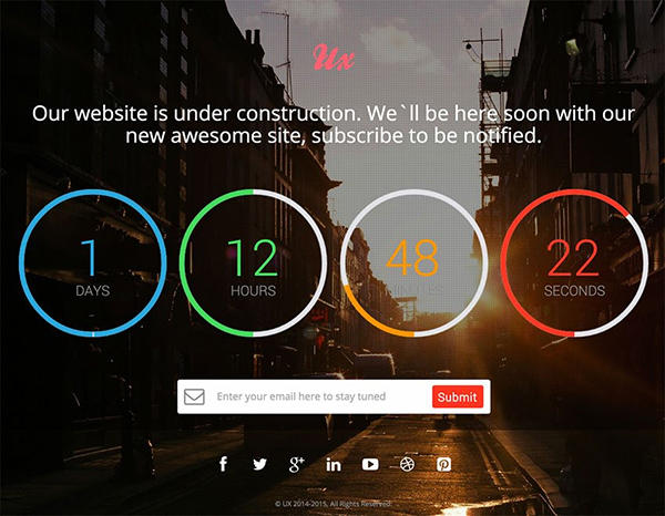 ux free Construction HTML Website Template