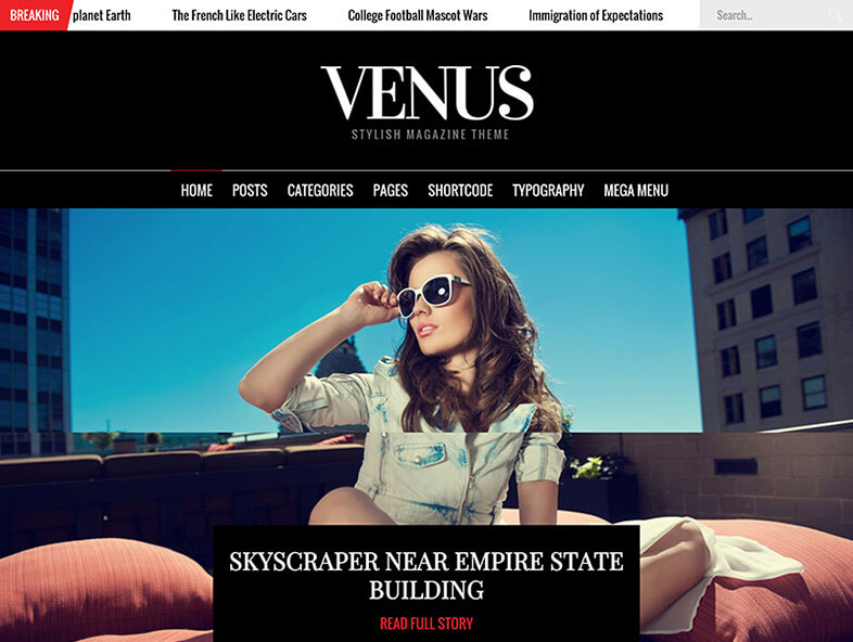 venus Best Responsive Magazine WordPress