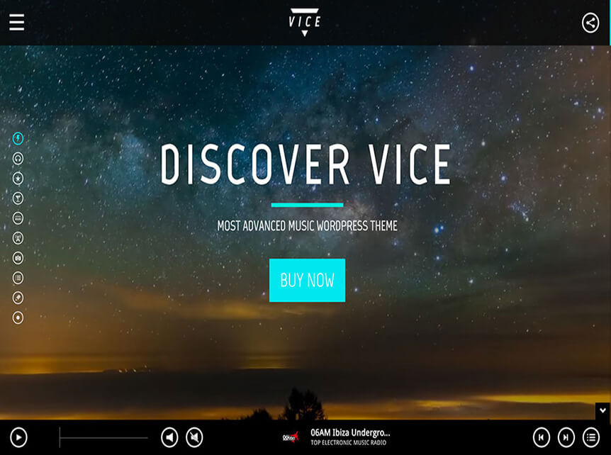 vice music WordPress Theme for Musicians