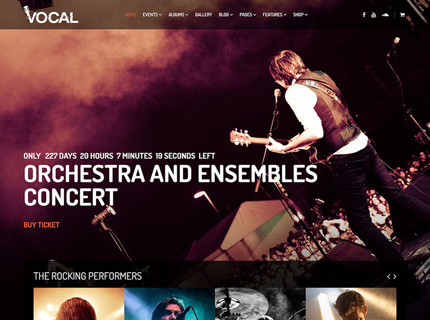 vocal music WordPress Theme for Musicians