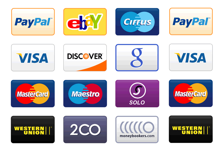 westernunion Methods Icon Set