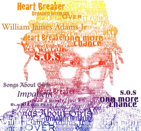 will i am Example Of Text Art and Typography