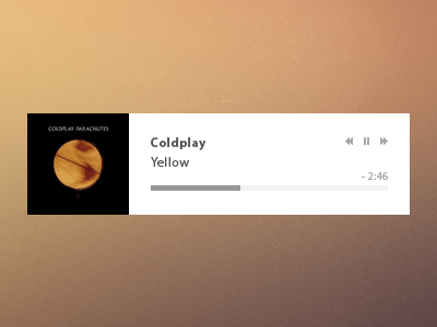 yellow Video Player UI PSD