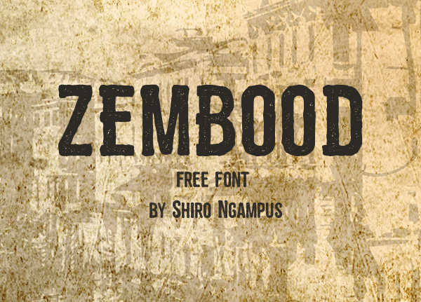 zembood Best Free Font 2017 for Graphic Designers