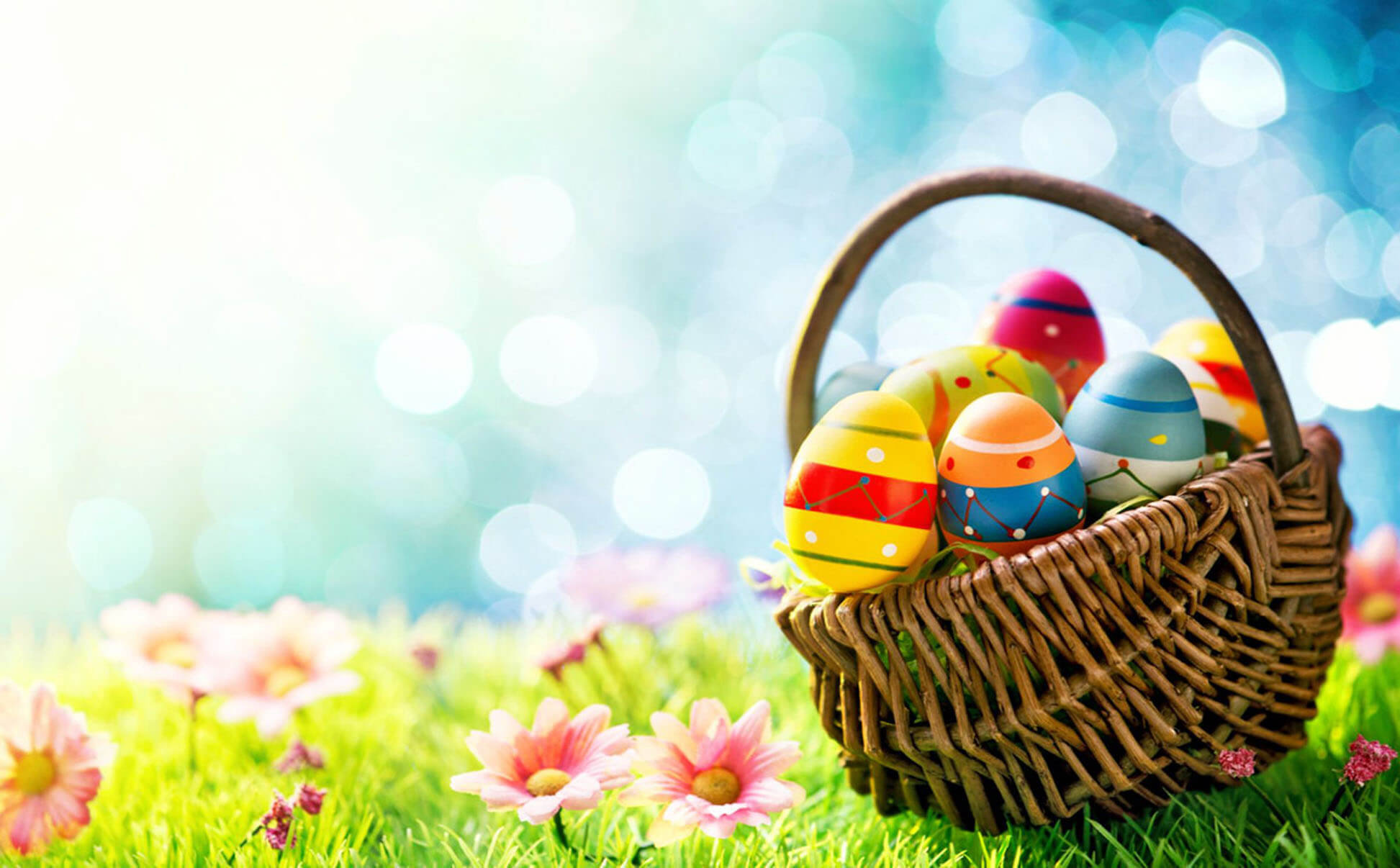 Basket Cute Easter Wallpaper