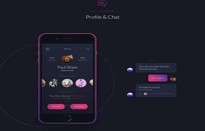 Black Chat UI Designs