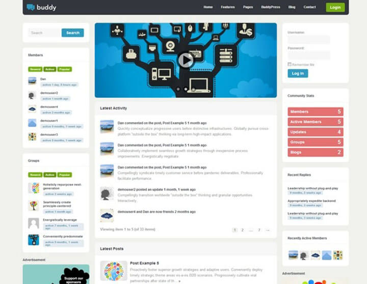 Buddy WordPress bbPress