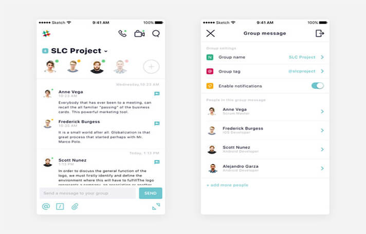 Group Chat Chat UI Designs