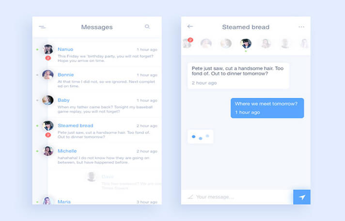 Meeting Responsive Chat UI