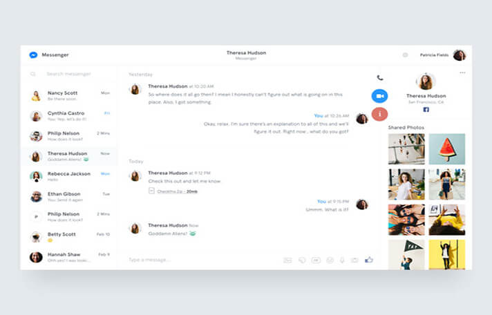Messenger Chat UI Designs