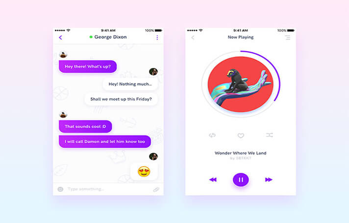 Music Responsive Chat UI