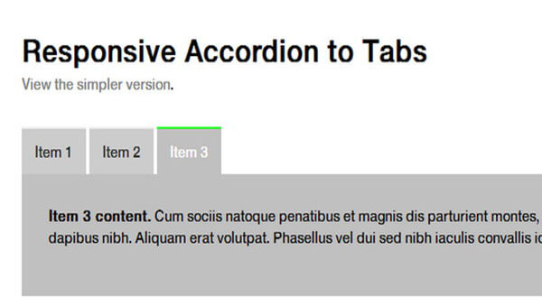 Responsive Accordion Tab