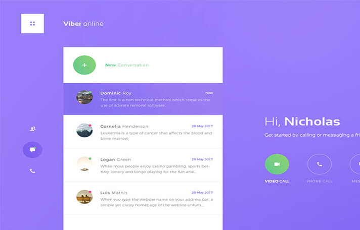 Viber Chat UI Designs